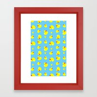 Rubber Duck Pattern Framed Art Print