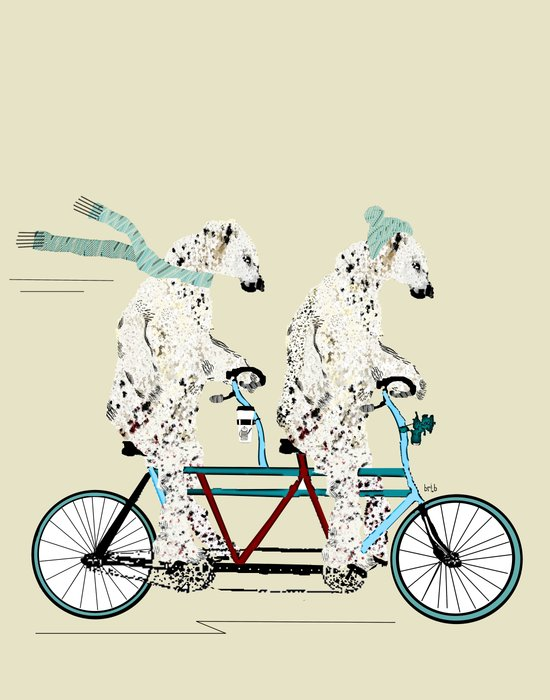 polar bears lets tandem Art Print