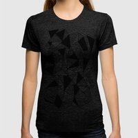 Ab Lines with Black Blocks Womens Fitted Tee Tri-Black SMALL