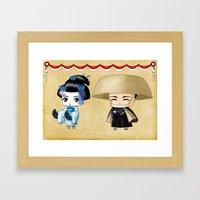 Japanese Chibis Framed Art Print