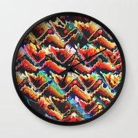 Colorful Geometric Motif Wall Clock