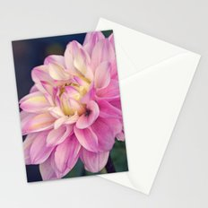 Pink sweet dahlia Stationery Cards