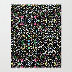 retro confetti Canvas Print