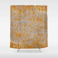 Natural embroidery Shower Curtain