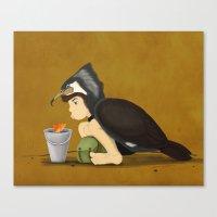 Little Black Cormorant Canvas Print