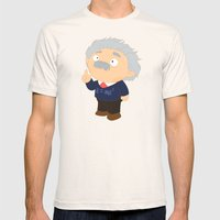 Albert Einstein Mens Fitted Tee Natural SMALL
