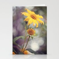Yellow Florals Stationery Cards