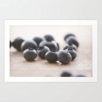 Blue Fruit Art Print