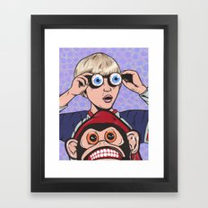 Rock and Roll Martian Framed Art Print