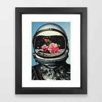 Spring Crop at the Rosseland Crater Framed Art Print