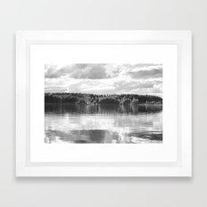 Reflections On A Lake Framed Art Print