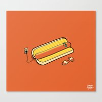 Cooking Up A Tan Canvas Print