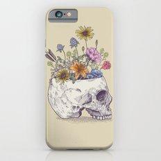 Half Skull Flowers iPhone 6s Slim Case