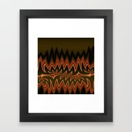 Fractal Tribal Art In Au… Framed Art Print