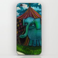 BLUE ELEPHANT.  iPhone & iPod Skin