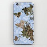 CAMO WORLD ATLAS MAP (BL… iPhone & iPod Skin