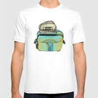 Toasted Tapes Mens Fitted Tee White SMALL