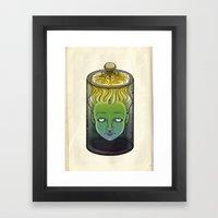 Sophronia , the talking head Framed Art Print
