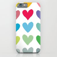 iPhone & iPod Case featuring Heart pattern art  by Hello Olive Designs