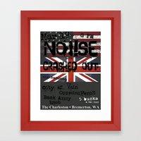Show Flyer, 3/19/12 (NOi!SE and Crashed Out) Framed Art Print