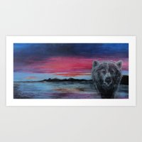 Strong Sunset Art Print