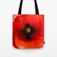 Poppy Flower Tote Bag