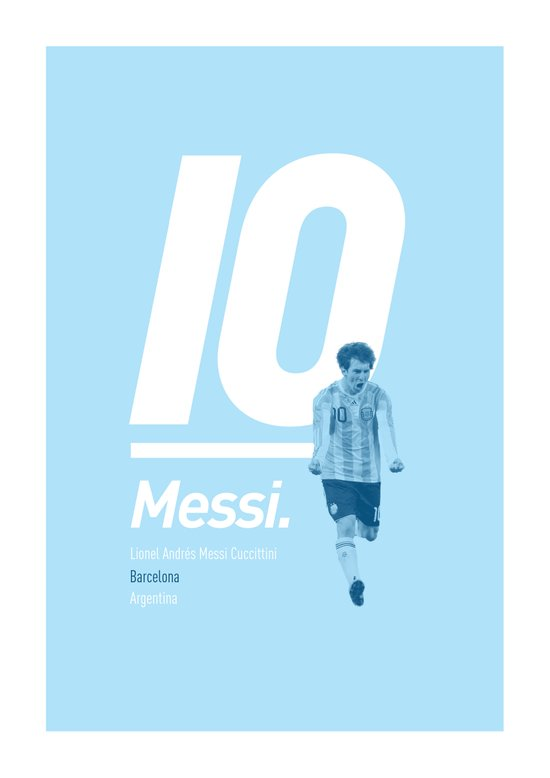 Messi Argentina 10 Art Print