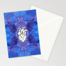 My heart in the cosmo version 2 Stationery Cards