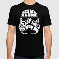 Stormtrooper in typography Black Mens Fitted Tee SMALL