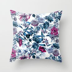 RPE FLORAL BLUE II Throw Pillow