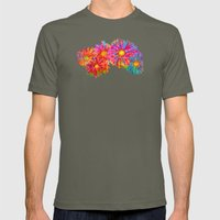 Bright Sketch Flowers Mens Fitted Tee Lieutenant SMALL