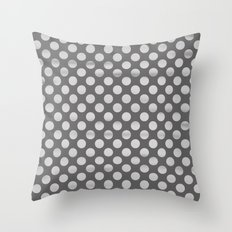 Chalkboard polka dots Throw Pillow