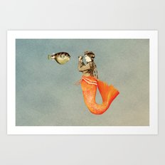 In search of realistic love Art Print