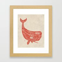 'How the Whale Got His Throat' Framed Art Print
