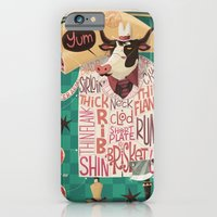 iPhone Cases featuring 'Cows are REALLY Meaty!' by Steve Simpson