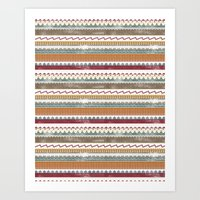 AZTEC STRIPES Art Print