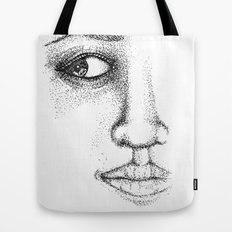 Fine Liner Stippling Girl 1 Tote Bag