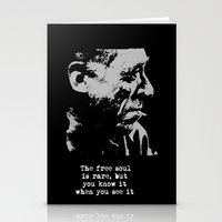 BUKOWSKI collage - The FREE SOUL quote Stationery Cards