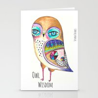 Owl Wisdom Stationery Cards