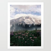 Mt Rainier Art Print