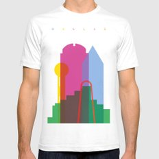 Shapes of Dallas. Accurate to scale. Mens Fitted Tee White SMALL