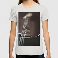 Telecaster Womens Fitted Tee Silver SMALL