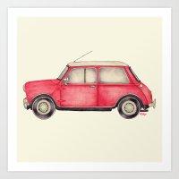 Original Austin Mini - B… Art Print
