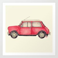 Original Austin Mini - Ballpoint Pen Art Print