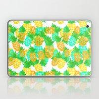 Watercolor Pineapples Tropic Laptop & iPad Skin