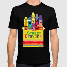 Color Me Sesame SMALL Black Mens Fitted Tee