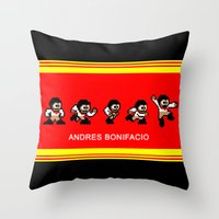 8-bit Andres 5 Pose V2 Throw Pillow