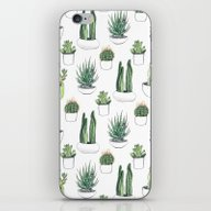 iPhone & iPod Skin featuring Watercolour Cacti And Su… by Vicky Webb