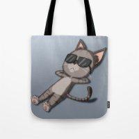 Sunbathing Cat Tote Bag