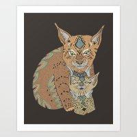 Wild Cats Love II Art Print